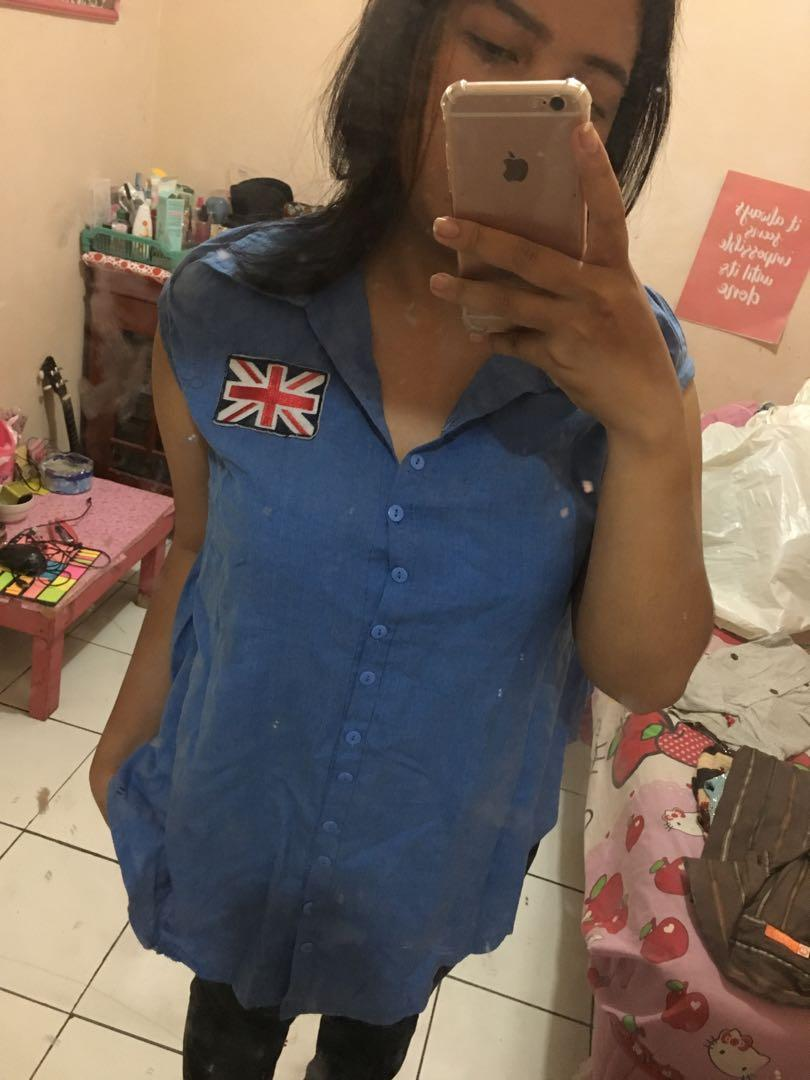 Blue top / kemeja / shirt