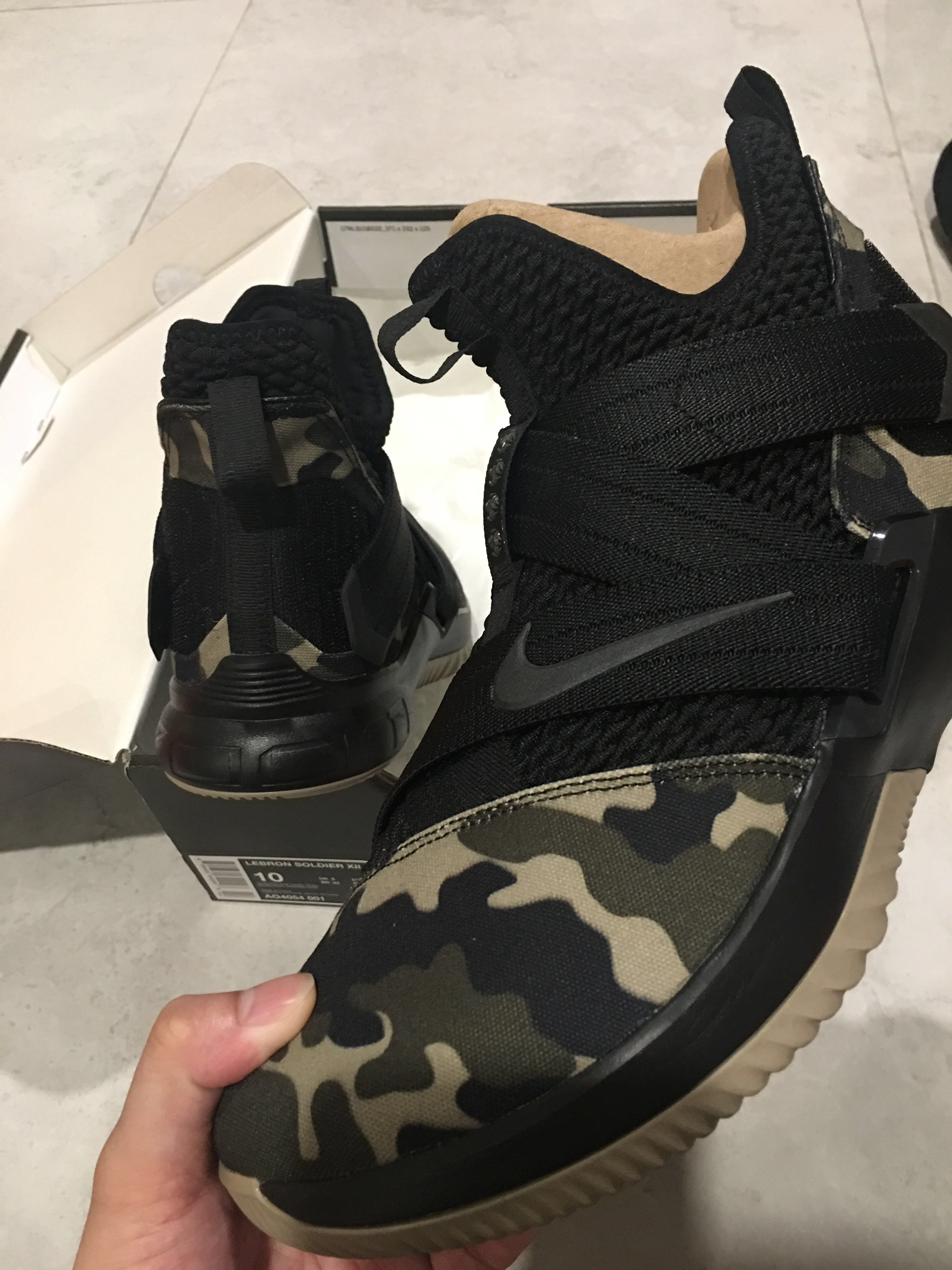 new style 74d2d b4e61 Brand New LeBron Soldier XII Special Force Camo US10, Men s Fashion,  Footwear, Sneakers on Carousell