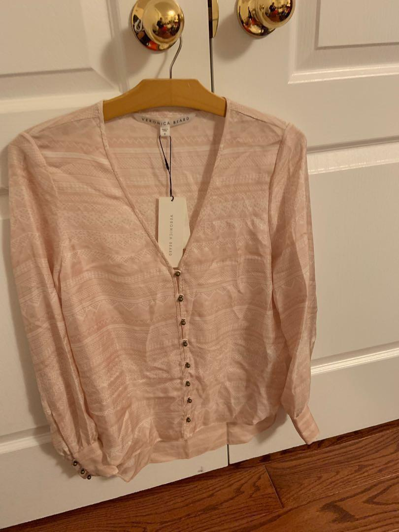 Brand new with tag. Veronica beard silk top. Retails $300+. Size 8
