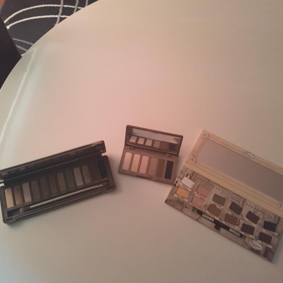 Bulk Eyeshadow Palette x 3 - Urban Decay x 2 and The Balm