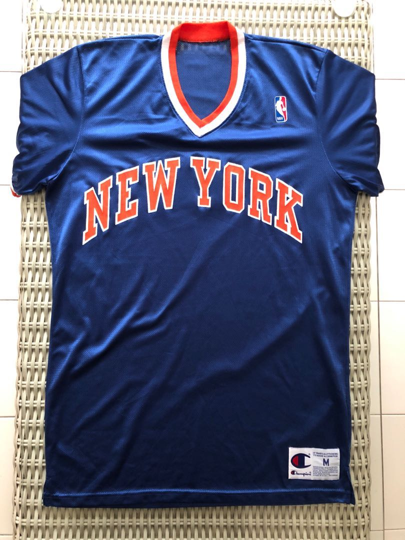 buy popular 99e47 1577a Champion💯% Authentic New York Knicks retro jersey for SGD ...