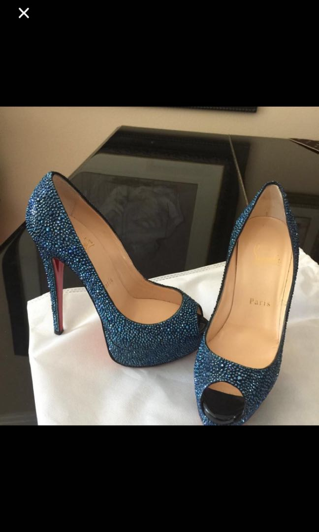 classic fit 122fd 61a92 Christian Louboutin crystal bridal