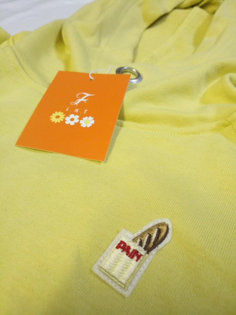 Fint French Bread Embroidery Fleece Pullover 法包刺繡裏毛套頭衫 未剪牌