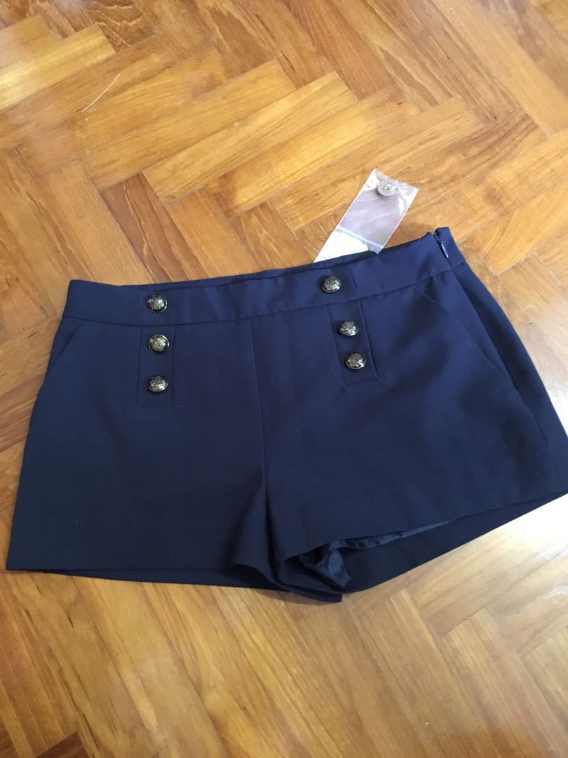 551ae81738 Forever 21 Navy shorts with buttons - BNWT, Women's Fashion, Clothes ...