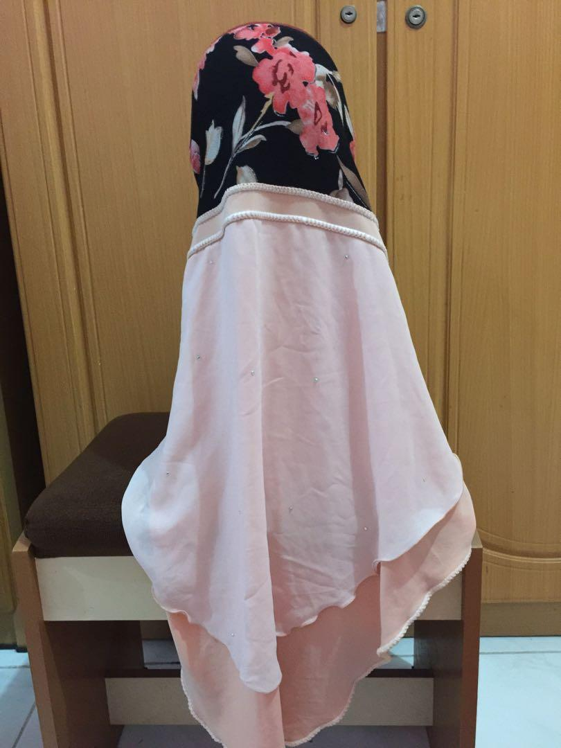 Hijab instan malaysia motif bunga