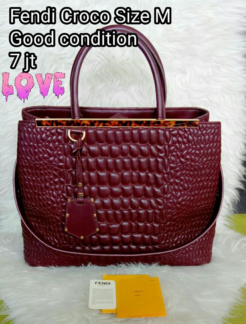 Jual Tas Fendi Croco Original Authentic Branded Bag Second Preloved ... 92550fc651