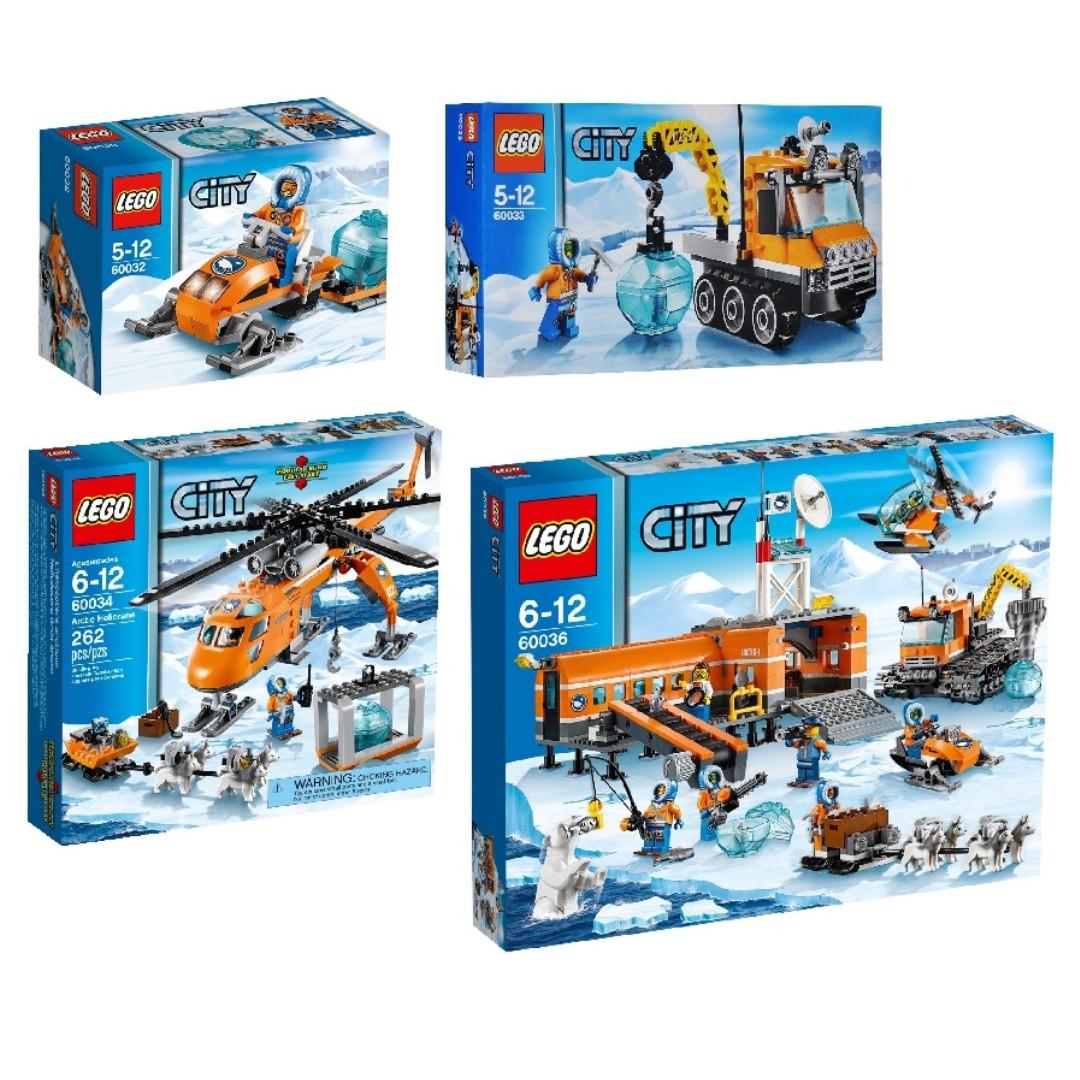 LEGO City Arctic - Arctic Base Camp Collection - Bundle 4 ...