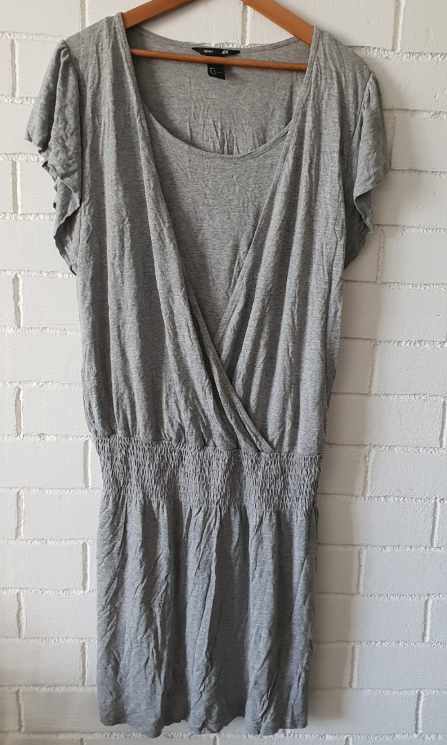 161f60f73ea0a1 H M Mama grey tunic dress Size L