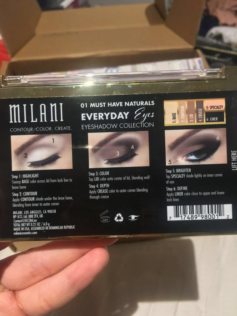 NEW LIGHTLY SWATCHED Milani Cosmetics Must Have Naturals Everyday Eyeshadow Palette - Tati Approved for basic everyday makeup