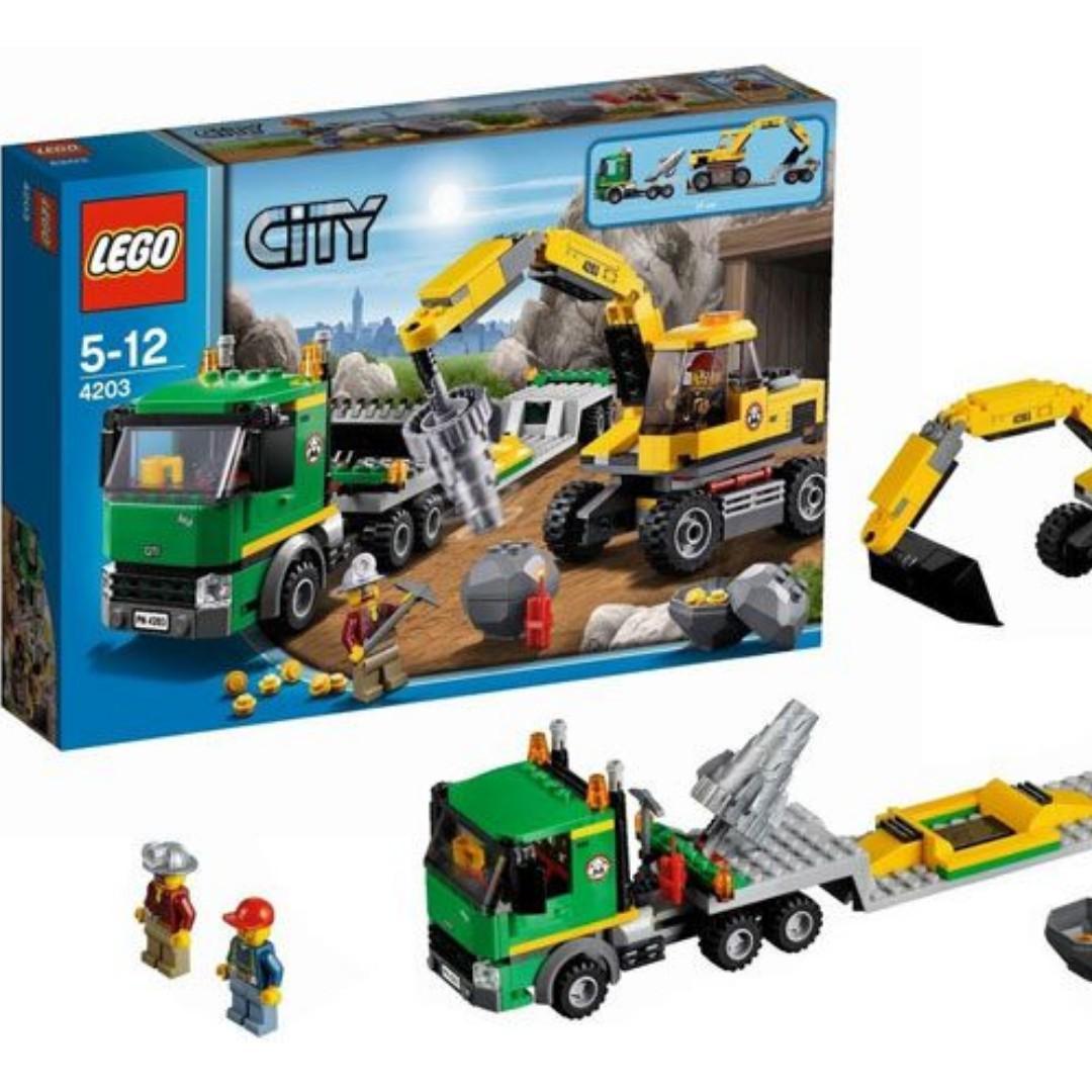 NEW SEALED Lego 4203 Excavator Transport