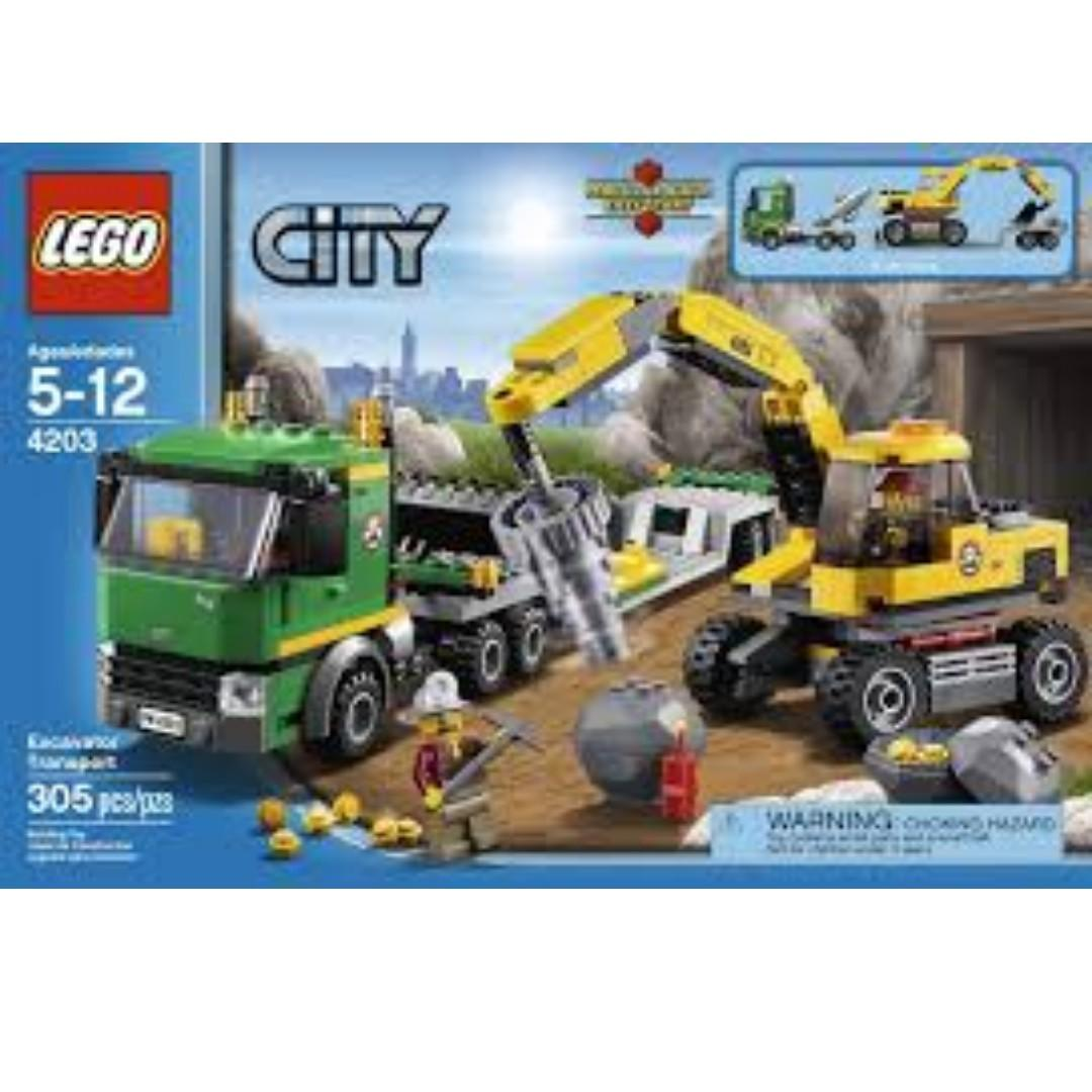 NEW SEALED Lego 4203 Excavator Transport