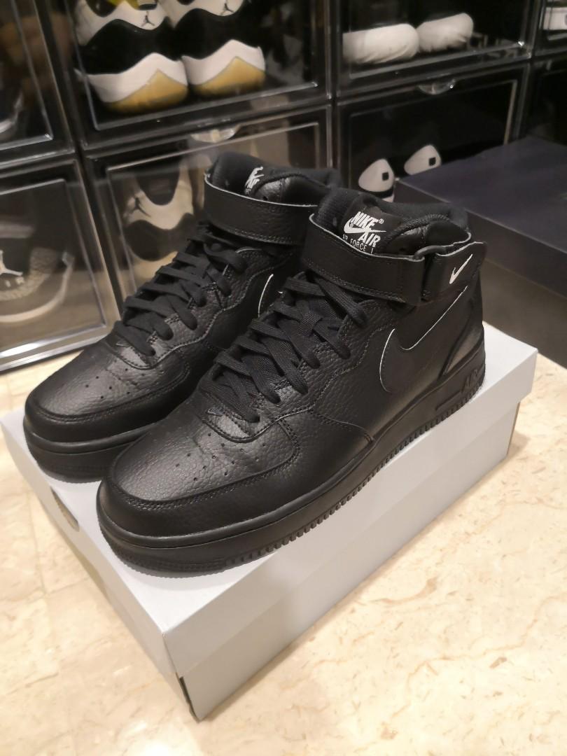 e32c815a7b7f7d Nike air force 1 mid all black us 9.5