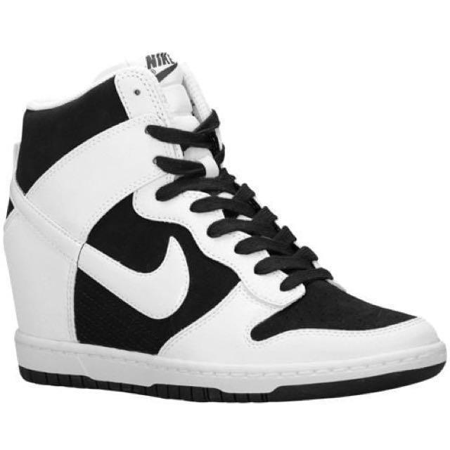 big sale 4e449 f5404 Nike Dunk Sky Hi - Women s Black and White, Sports, Sports Apparel ...