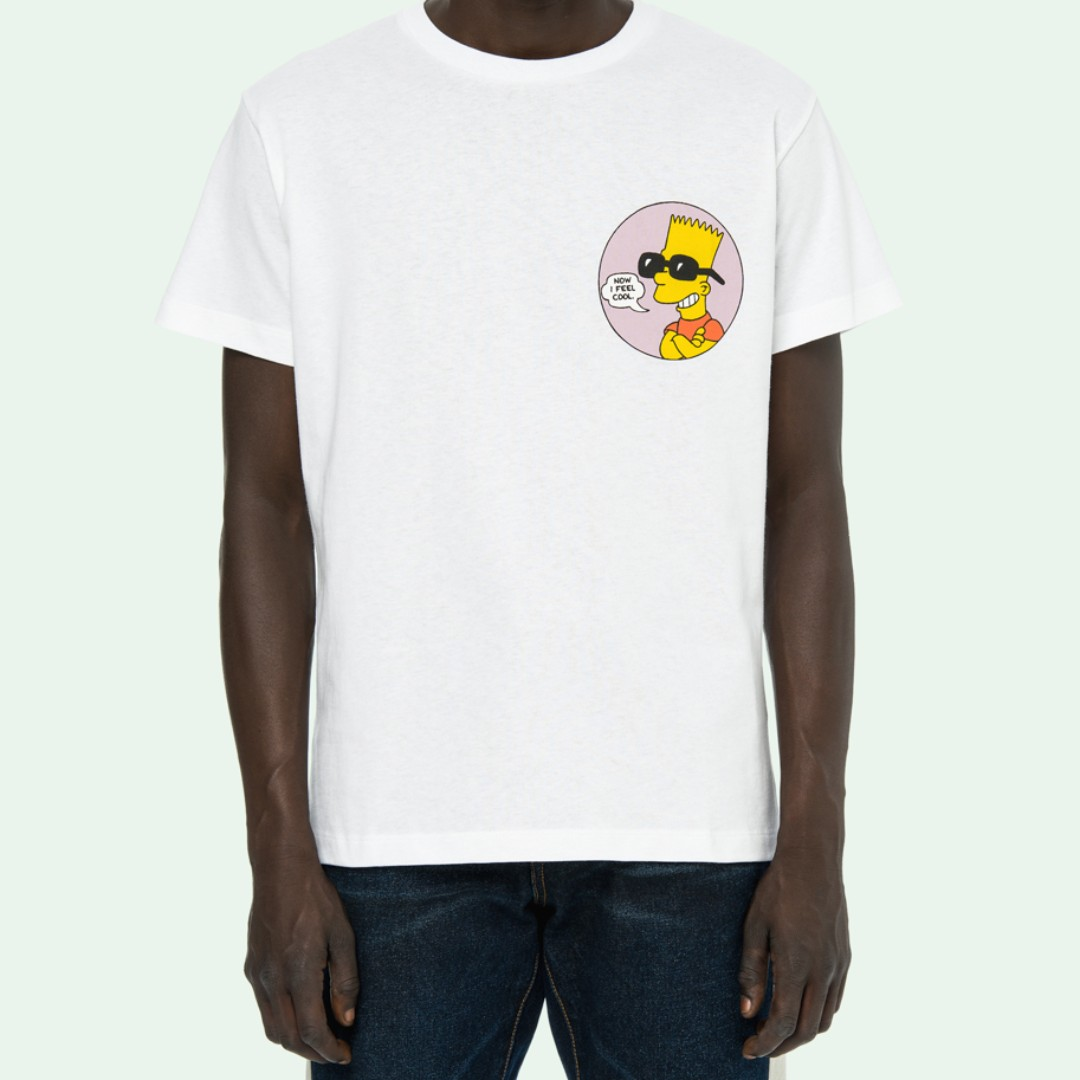 b909e8ee79b Off White Bart Simpsons Public Enemy Tee