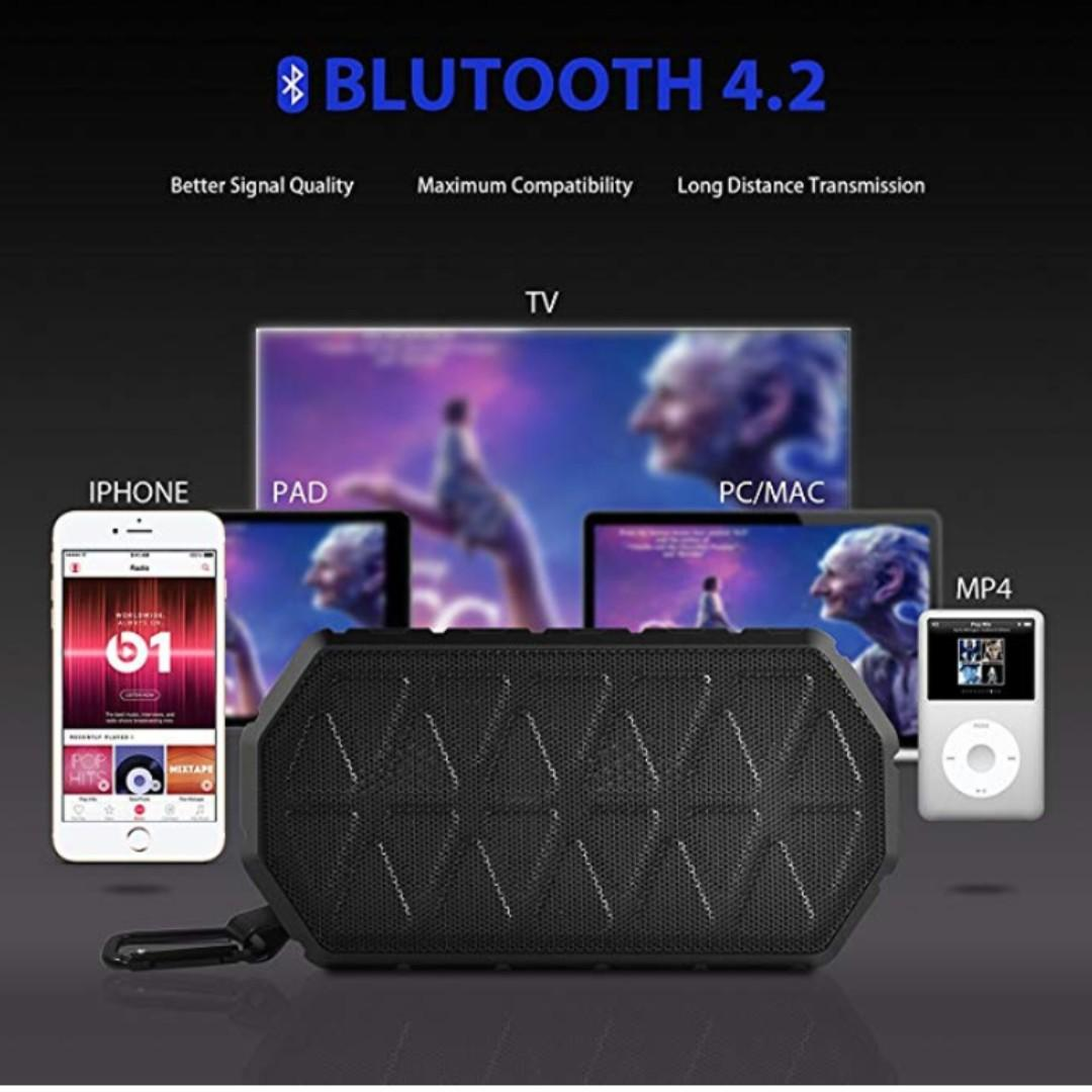 P14 Portable Bluetooth Speaker Tohayie Ipx6 Outdoor Bluetooth Speaker With 1000mah Battery 66 Foot Bluetooth Range Built In Mic For Iphone Samsung And More Black Electronics Audio On Carousell