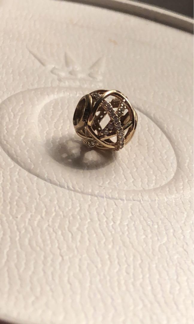 Pandora gold galaxy charm