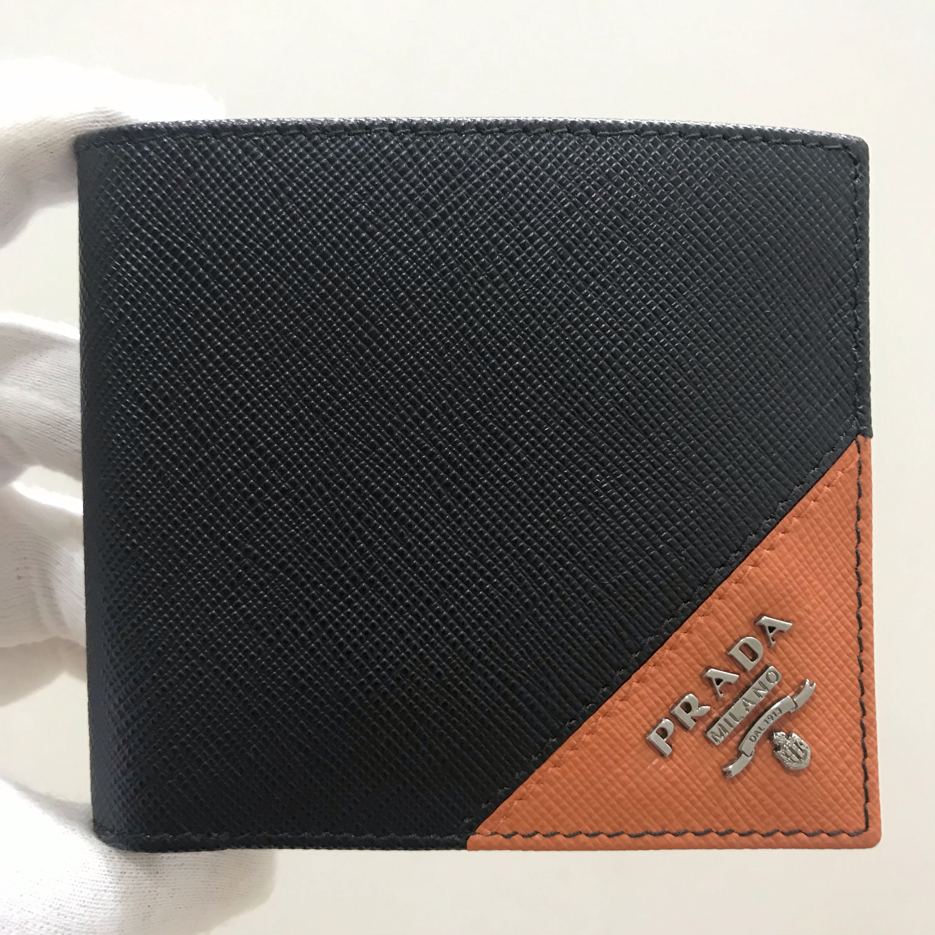 f961839b59f3 PRADA Men's Saffiano Leather Bifold Wallet 100% AUTHENTIC+BRAND NEW ...