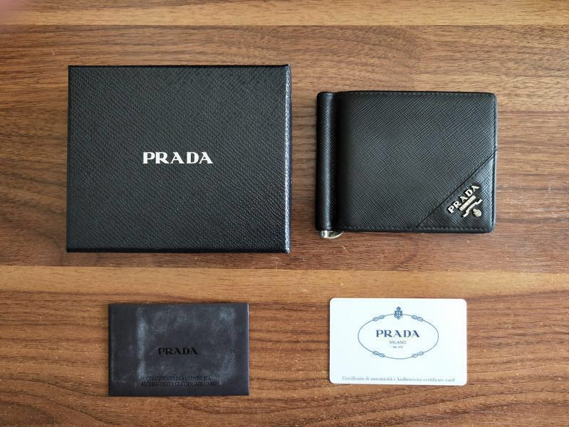 1e06bd794c03 Prada Money Clip, Men's Fashion, Bags & Wallets, Wallets on Carousell