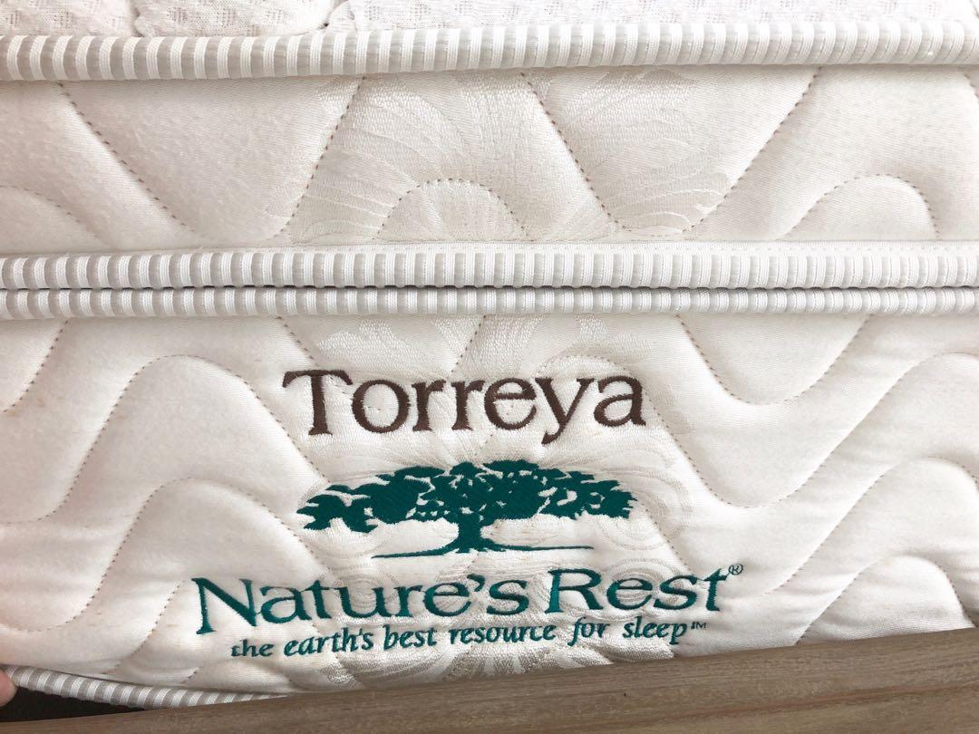Queen mattress and bed frame