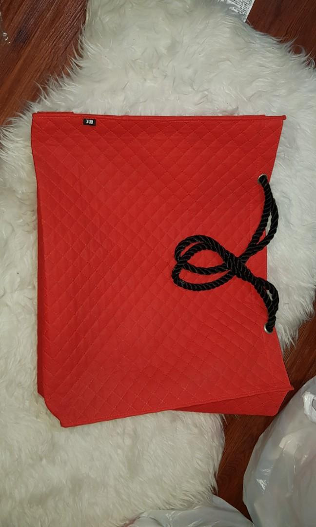 Shopping Bag SUB chanel pattern inspired BIG RED LUXURY STYLE