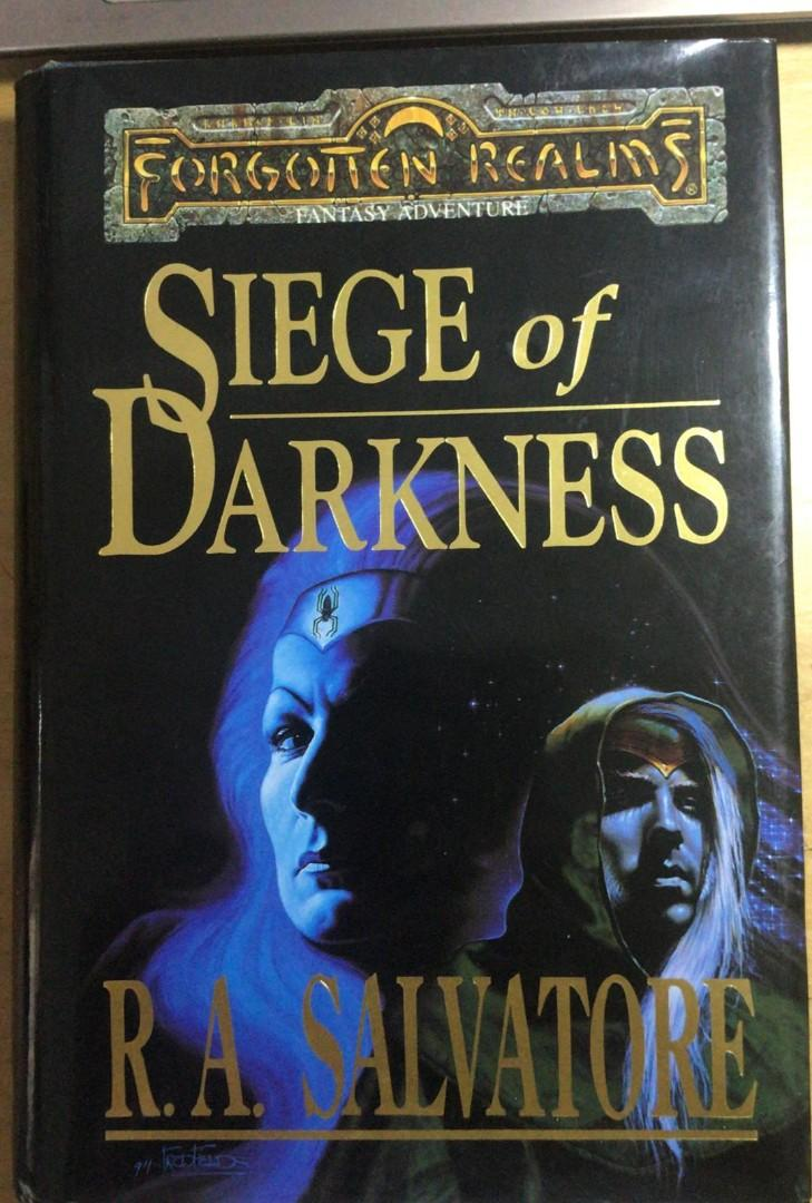 Seige of Darkness Hardcover by R A  Salvatore (Author), Fred