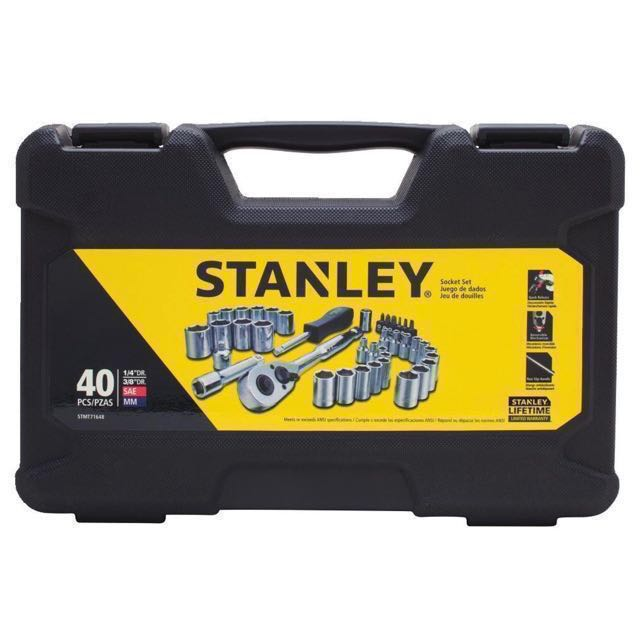 Stanley 40 piece 1/4 & 3/8 inches Socket Tool Set STMT71648