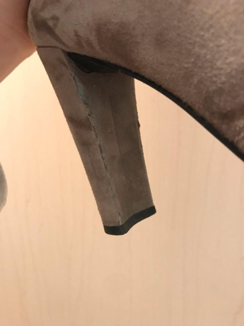 Stuart Weitzman Grey Highland Thigh High Boots - Size 7.5 M