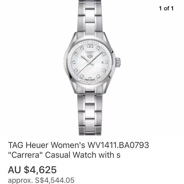 632a3c061fac4 Tag Heuer Carrera Ladies Model With Genuine Sparkling Diamonds ...
