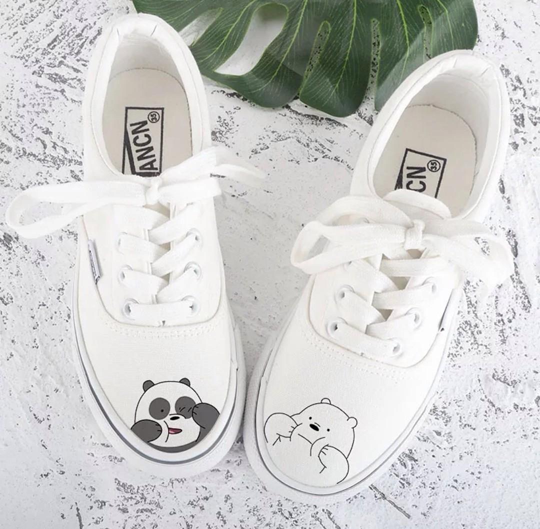 We Bare Bears Sneakers, Women's Fashion