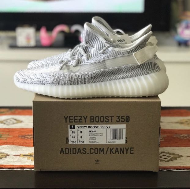 bf4681c85 Yeezy Boost 350 V2 Static 2018 8.5us, Men's Fashion, Footwear ...