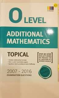 O Level Additional Mathematics Topical Exam Questions