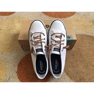 💝BNEW Sperry White topsider sneakers size 6