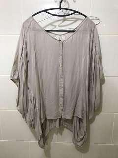 X sml batwing top