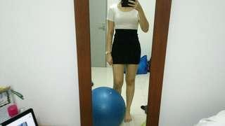 SHORT BLACK PENCIL SKIRT #RHD80