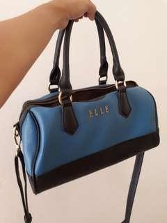 Preloved Elle Black and Blue Hand Bag/ Sling Bag