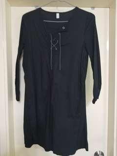 Korea black long top/dress 韓國黑色 長衫/ 裙