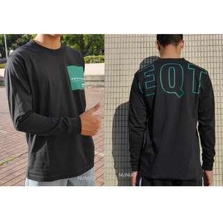 Adidas EQT Graphic LS T-Shirt 長袖 薄長T 黑綠 DH5227 Logo 黑色 長踢