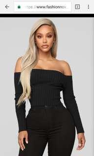 Black Off The Shoulder Top