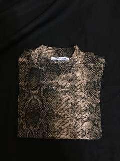 Zara 蛇紋t