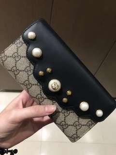 Gucci wallet dompet pearl ASLI