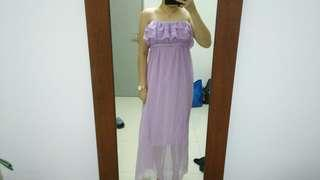 PURPLE SIMPLE DRESS PROM