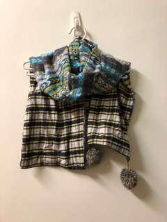 🚚 雙面花紋圍巾