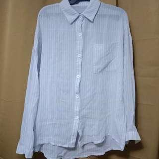 Button down Blouse (Blue)