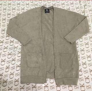 棕色針織外套