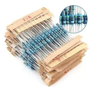 560pcs 56 Types Metal Film Resistor Electronic Assorted Resistance Components Kit