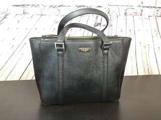 Kate Spade New York Black Saffiano Leather Newbury Lane Purse Tote Bag Handbag