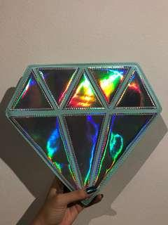 Diamond Holographic Makeup Brush Holder