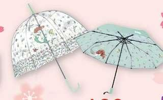 迪士尼小魚仙美人魚縮骨防紫外線傘,disney UV protection Umbrella the little mermaid princess