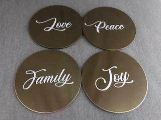 Customised Coasters (Gold)