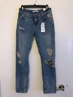 BNWT Zara relax fit straight leg denim